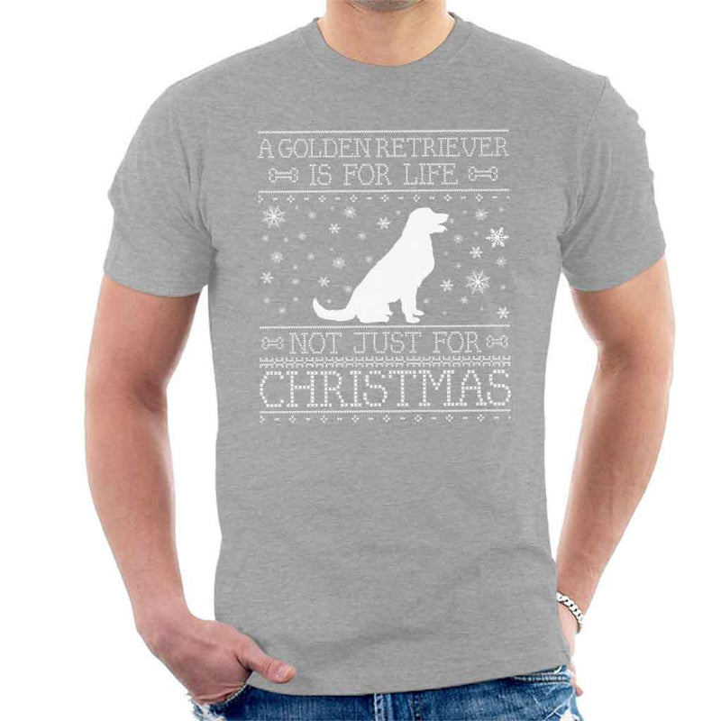 A Golden Retriever Is For Life Not Just For Christmas Men's T-Shirt - coto7