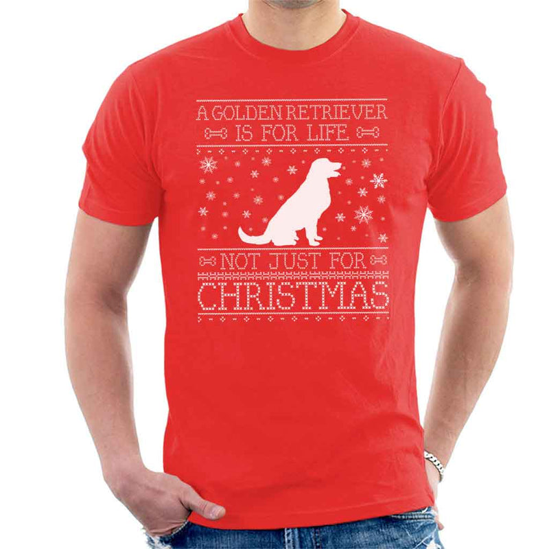 A Golden Retriever Is For Life Not Just For Christmas Men's T-Shirt