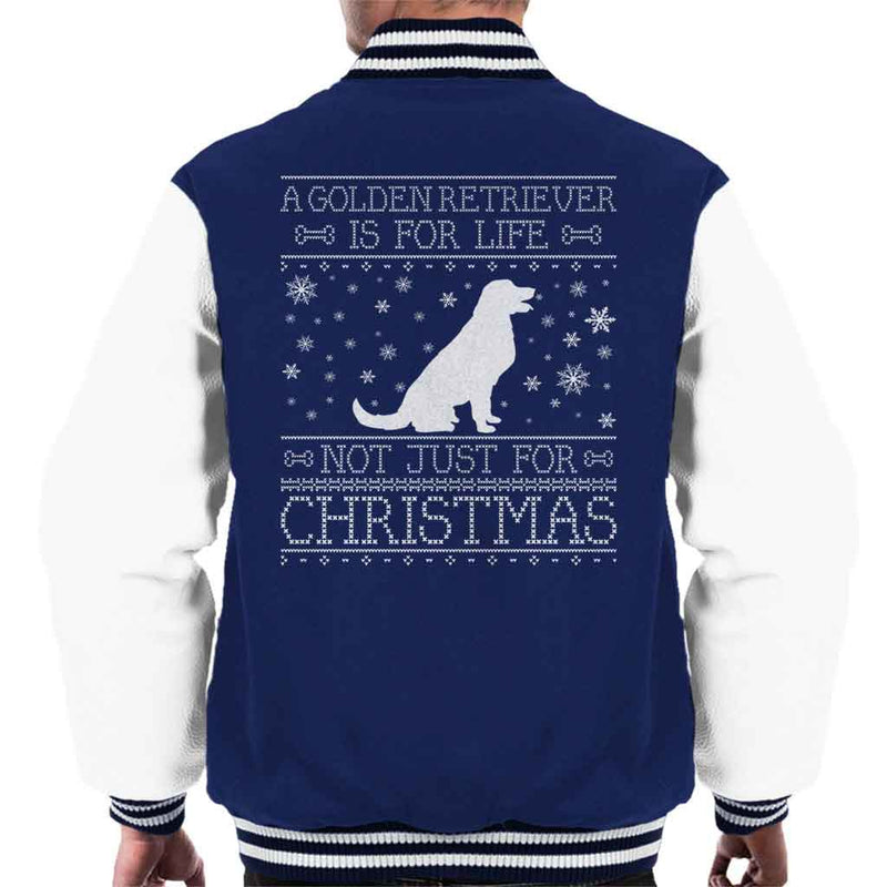 A Golden Retriever Is For Life Not Just For Christmas Men's Varsity Jacket - coto7
