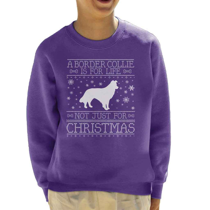 A Border Collie Is For Life Not Just For Christmas Kid's Sweatshirt - coto7