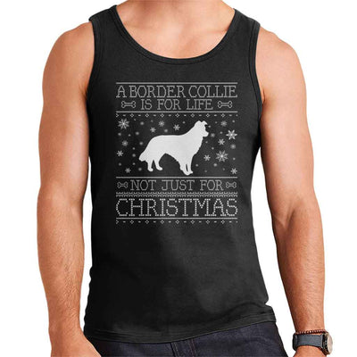 A Border Collie Is For Life Not Just For Christmas Men's Vest - coto7