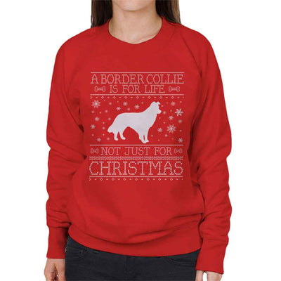 A Border Collie Is For Life Not Just For Christmas Women's Sweatshirt