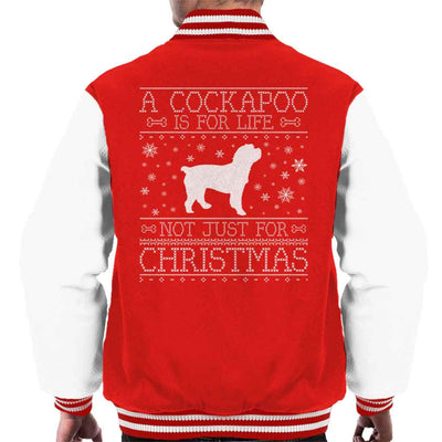 A Cockapoo Is For Life Not Just For Christmas Men's Varsity Jacket