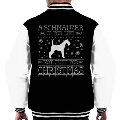 A Schnauzer Is For Life Not Just For Christmas Men's Varsity Jacket - coto7
