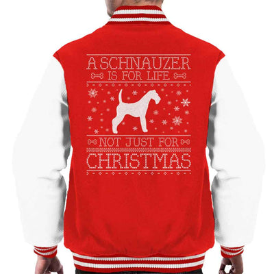 A Schnauzer Is For Life Not Just For Christmas Men's Varsity Jacket
