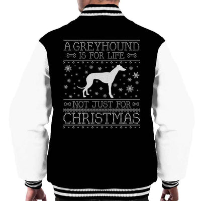 A Greyhound Is For Life Not Just For Christmas Men's Varsity Jacket - coto7