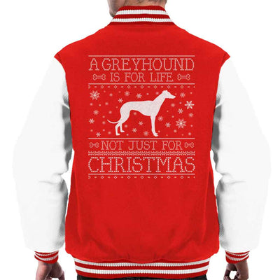 A Greyhound Is For Life Not Just For Christmas Men's Varsity Jacket