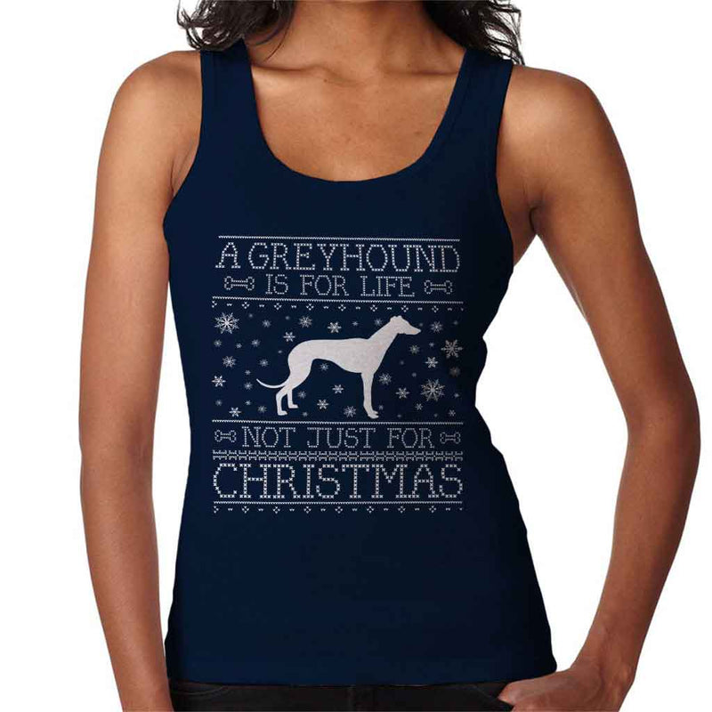 A Greyhound Is For Life Not Just For Christmas Women's Vest - coto7