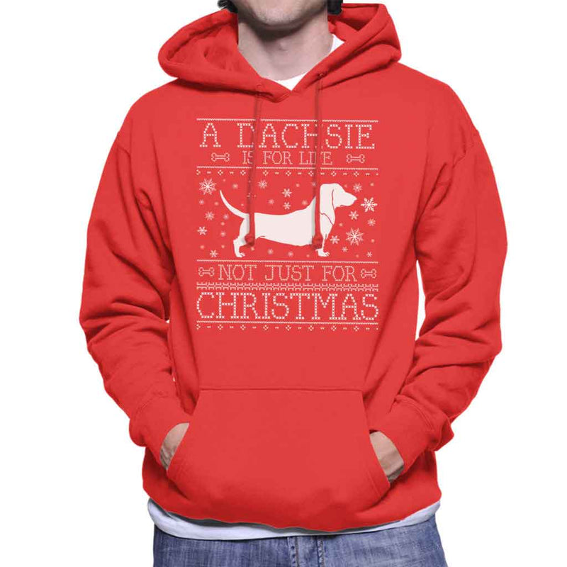A Dachsie Is For Life Not Just For Christmas Men's Hooded Sweatshirt