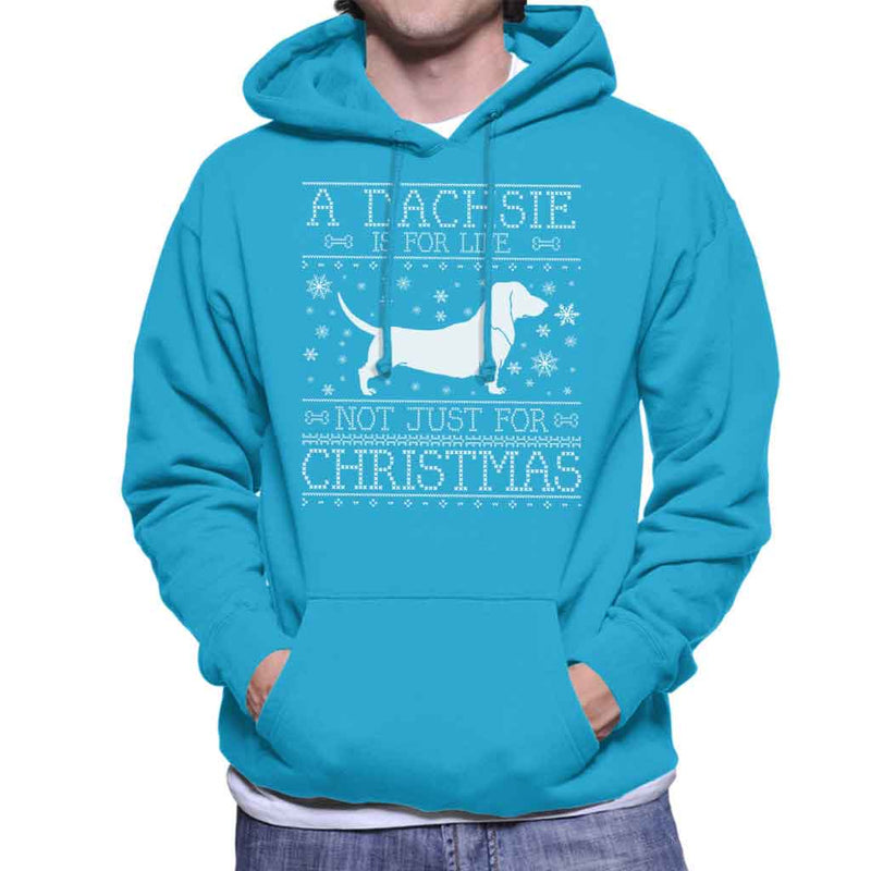 A Dachsie Is For Life Not Just For Christmas Men's Hooded Sweatshirt - coto7