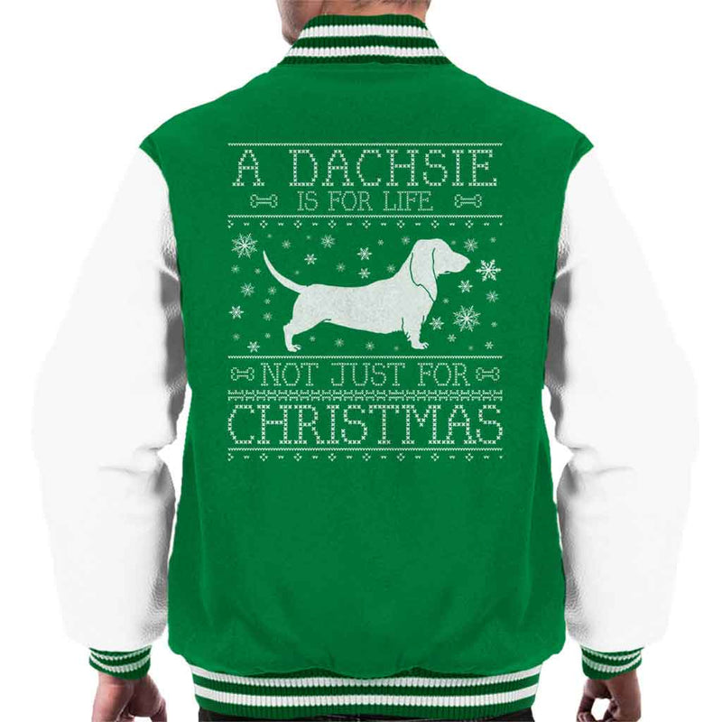 A Dachsie Is For Life Not Just For Christmas Men's Varsity Jacket - coto7