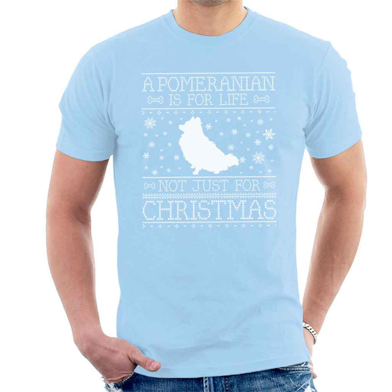 A Pomeranian Is For Life Not Just For Christmas Men's T-Shirt - coto7