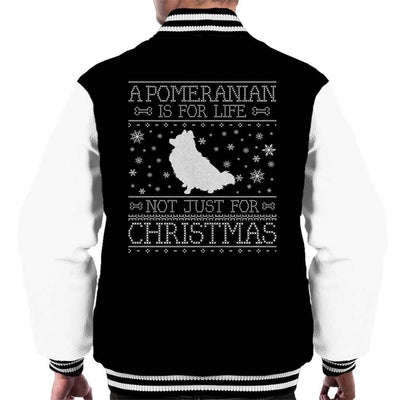 A Pomeranian Is For Life Not Just For Christmas Men's Varsity Jacket - coto7