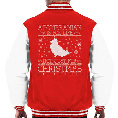 A Pomeranian Is For Life Not Just For Christmas Men's Varsity Jacket