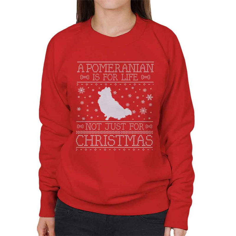 A Pomeranian Is For Life Not Just For Christmas Women's Sweatshirt
