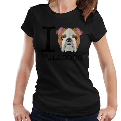 I Heart Bulldogs Women's T-Shirt - coto7