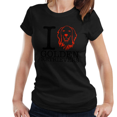 I Heart Golden Retrievers Women's T-Shirt - coto7