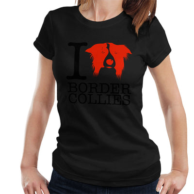 I Heart Border Collies Women's T-Shirt - coto7