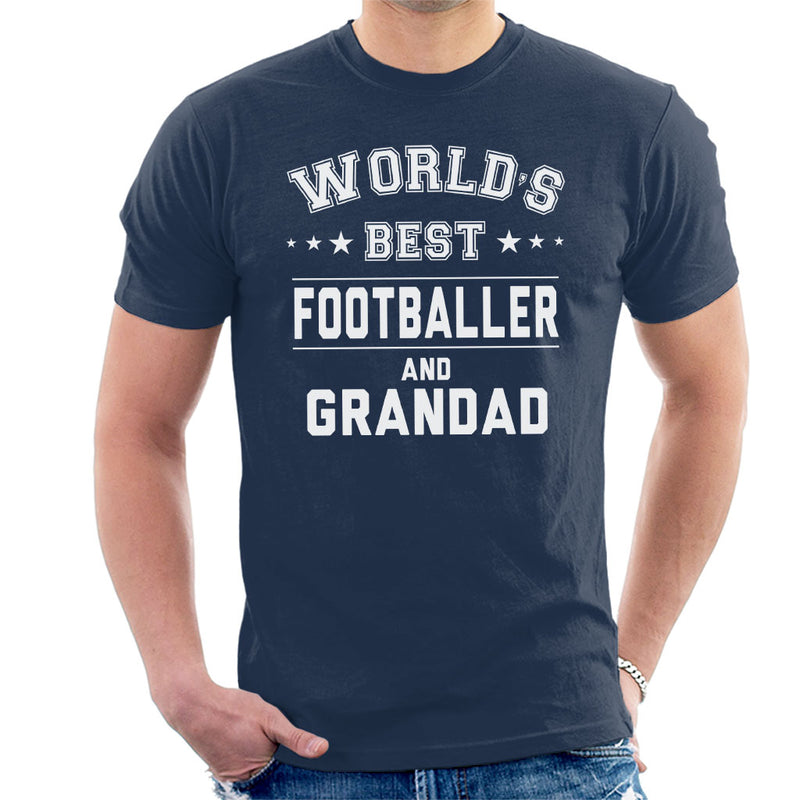 Worlds Best Footballer And Grandad Men's T-Shirt - coto7