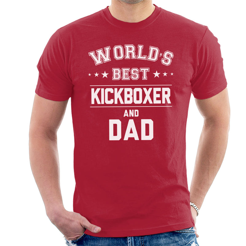 Worlds Best Kickboxer And Dad Men's T-Shirt - coto7