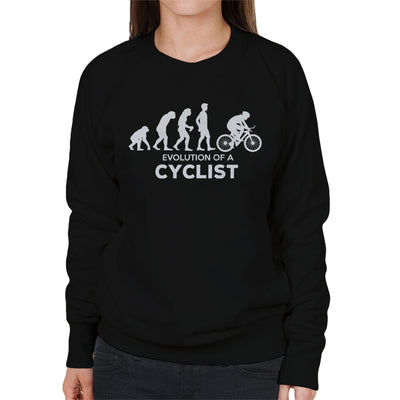 Evolution Of A Cyclist Women's Sweatshirt - coto7