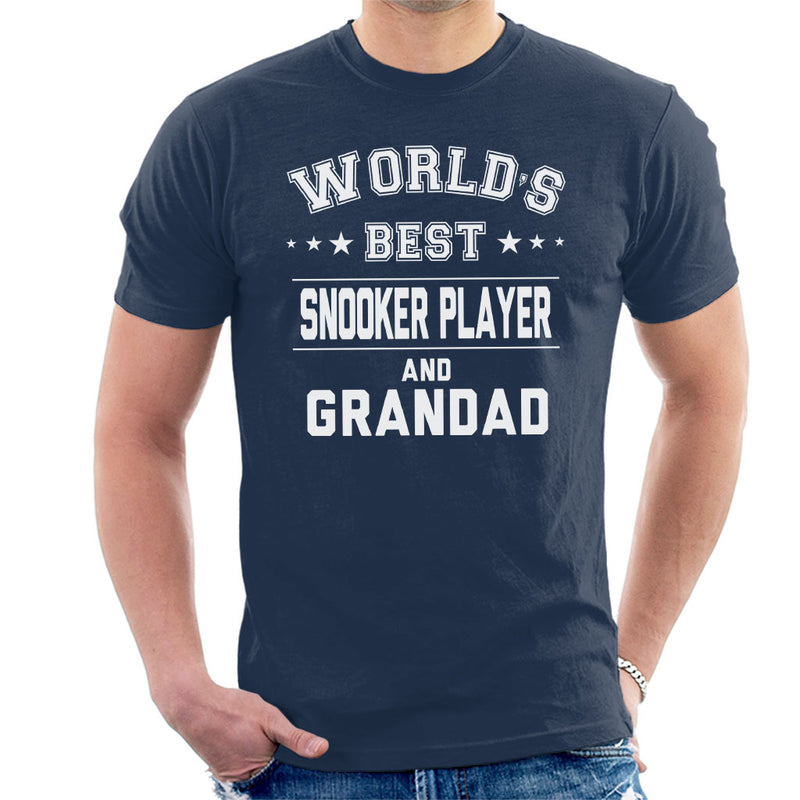 Worlds Best Snooker Player And Grandad Men's T-Shirt - coto7