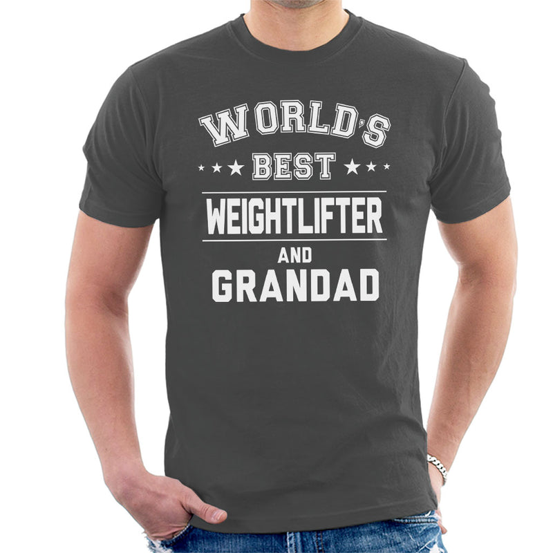Worlds Best Weightlifter And Grandad Men's T-Shirt - coto7