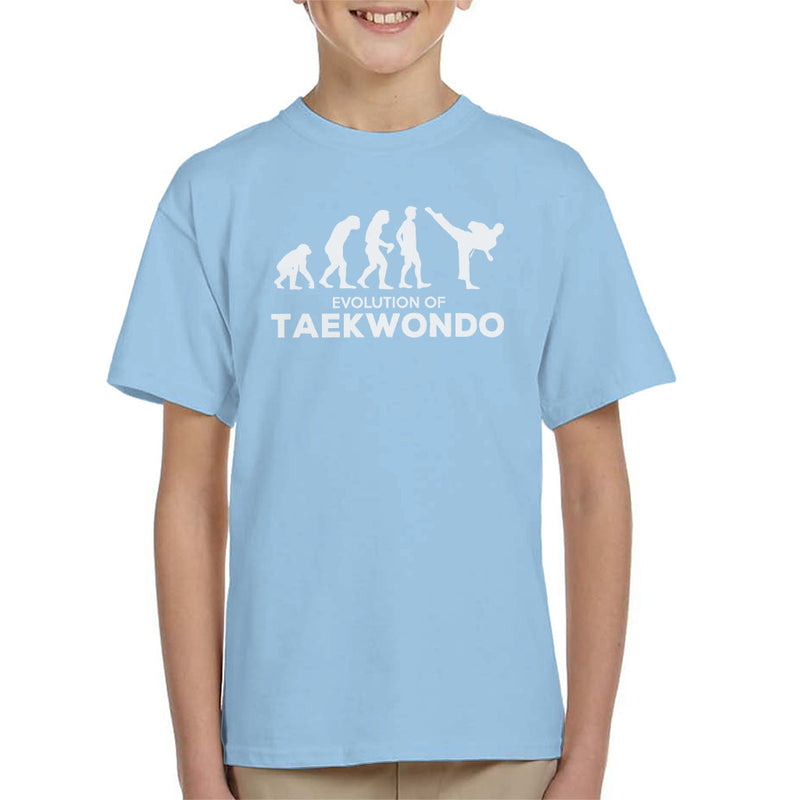 Evolution Of Taekwondo Kid's T-Shirt - coto7