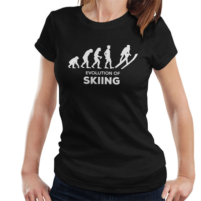 Evolution Of Skiing Women's T-Shirt - coto7