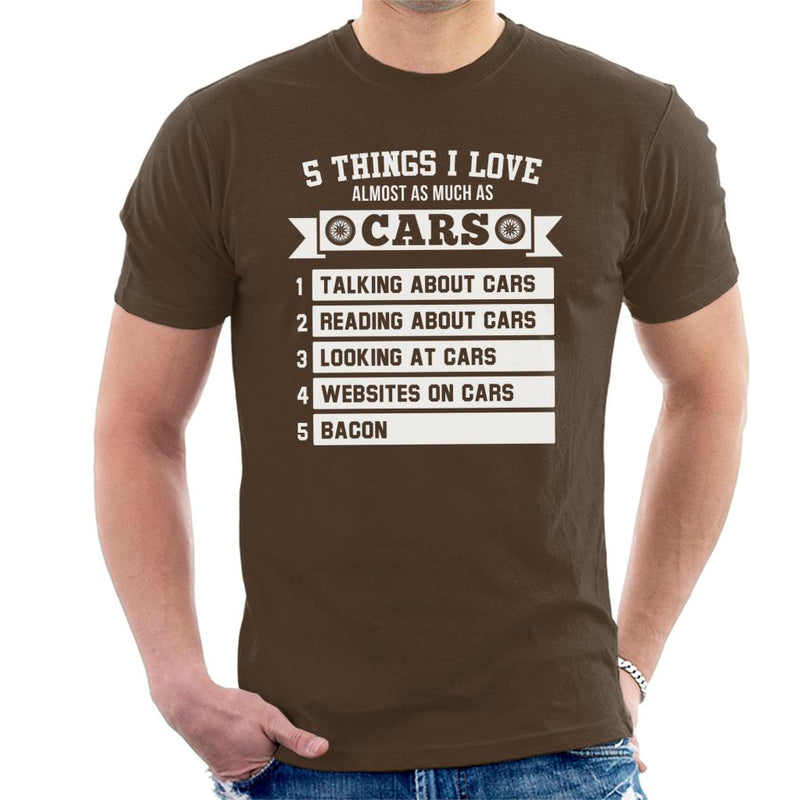 5 Things I Love Almost As Much As Cars Men's T-Shirt - coto7