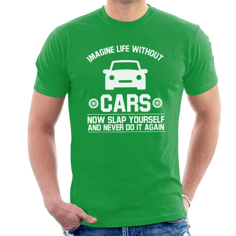 Imagine Life Without Cars Men's T-Shirt - coto7
