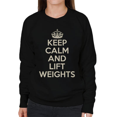 Keep Calm And Lift Weights Women's Sweatshirt - coto7