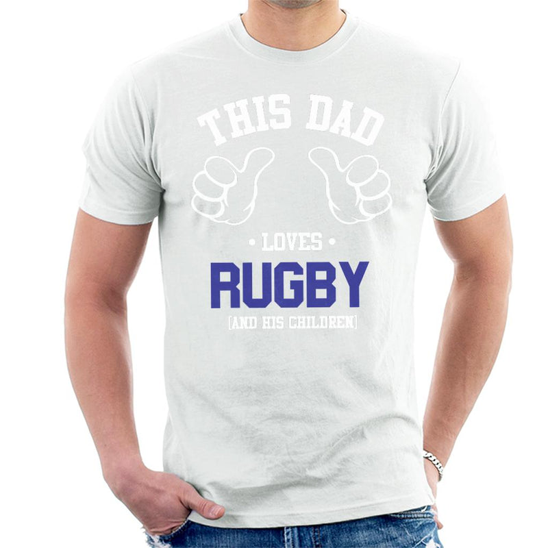 This Dad Loves Rugby And His Children Men's T-Shirt - coto7