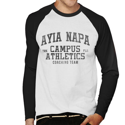 Ayia Napa Campus Athletics Coaching Team Men's Baseball Long Sleeved T-Shirt - coto7