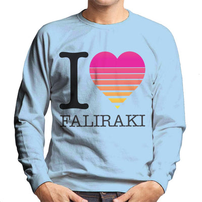I Heart Faliraki Sunset Men's Sweatshirt - coto7