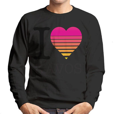I Heart Kavos Sunset Men's Sweatshirt - coto7