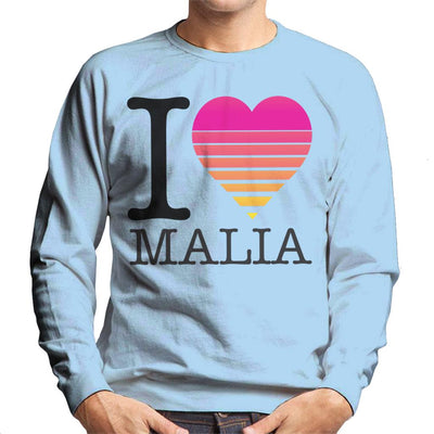 I Heart Malia Sunset Men's Sweatshirt - coto7