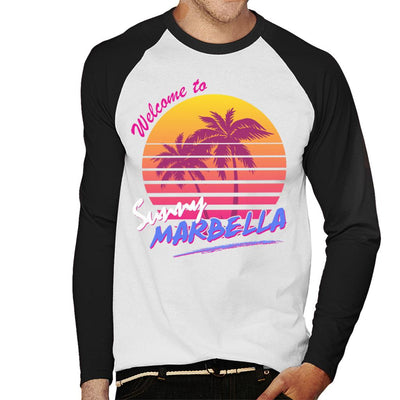 Welcome To Sunny Marbella Men's Baseball Long Sleeved T-Shirt - coto7