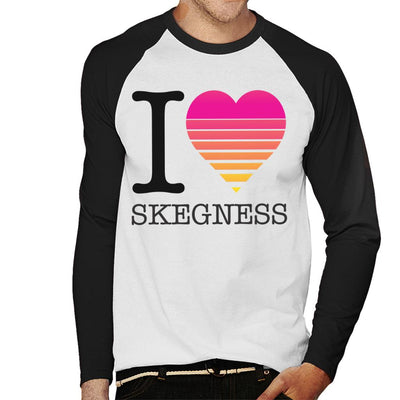 I Heart Skegness Sunset Men's Baseball Long Sleeved T-Shirt - coto7