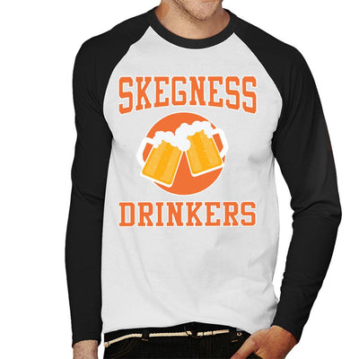 Skegness Drinkers Cheers Beers Men's Baseball Long Sleeved T-Shirt - coto7