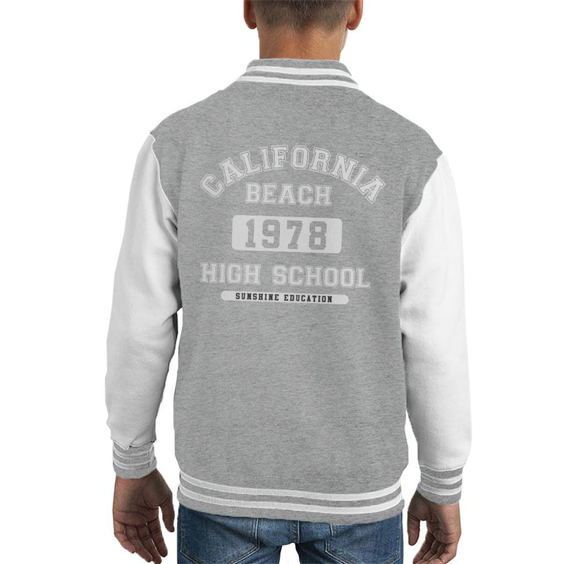 California Beach High School Kid's Varsity Jacket - coto7
