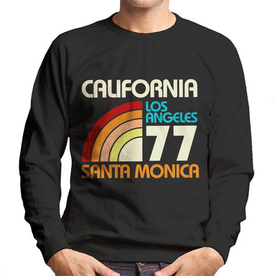 California Los Angeles Santa Monica 70s Men's Sweatshirt - coto7