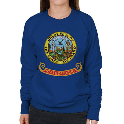 Great Seal Of The State Of Idaho Flag Women's Sweatshirt - coto7