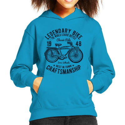 Legendary Bike Craftsmanship Kid's Hooded Sweatshirt - coto7