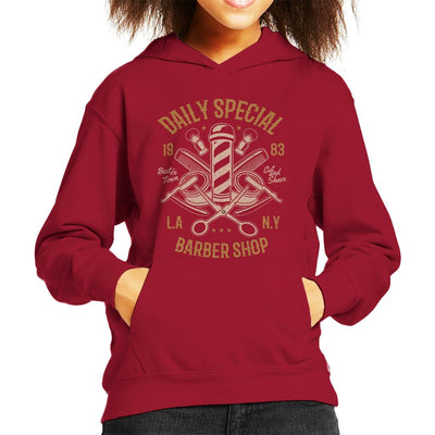 Daily Special Barber Shop Kid's Hooded Sweatshirt - coto7
