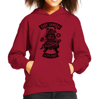 Japanese Dark Samurai Lets Fight Kid's Hooded Sweatshirt - coto7