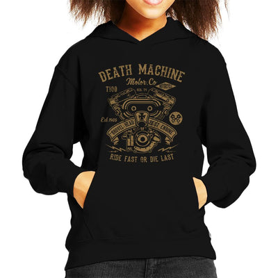Death Machine Ride Fast Or Die Last Kid's Hooded Sweatshirt