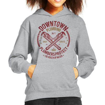 Downtown Plumbing Kid's Hooded Sweatshirt