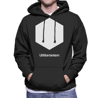 Utilitarianism Philosophy Symbol Men's Hooded Sweatshirt - coto7