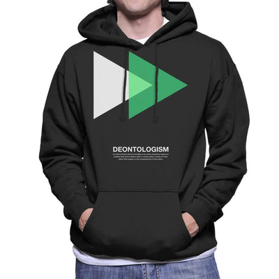 Deontologism Philosophy Symbol Men's Hooded Sweatshirt - coto7